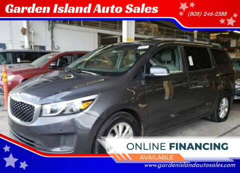 2017 Kia Sedona for sale at Garden Island Auto Sales in Lihue HI