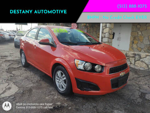 2014 Chevrolet Sonic for sale at DestanY AUTOMOTIVE in Hamilton OH