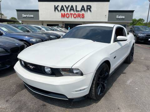 2011 Ford Mustang for sale at KAYALAR MOTORS in Houston TX