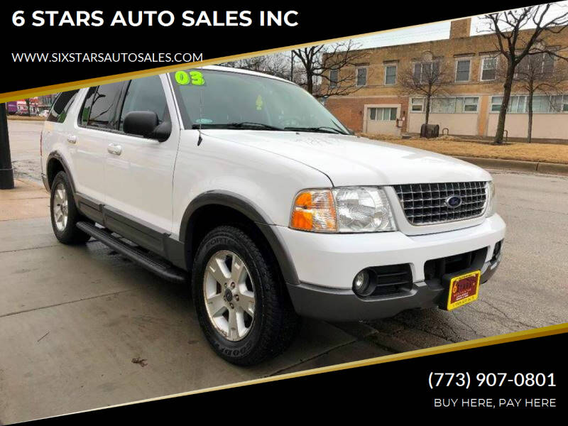 2003 Ford Explorer for sale at 6 STARS AUTO SALES INC in Chicago IL