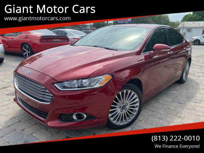 2016 Ford Fusion for sale at Giant Motor Cars in Tampa FL