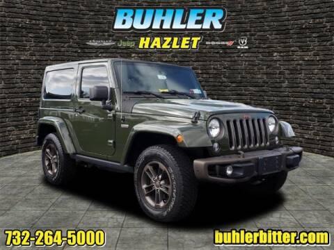 2016 Jeep Wrangler for sale at Buhler and Bitter Chrysler Jeep in Hazlet NJ