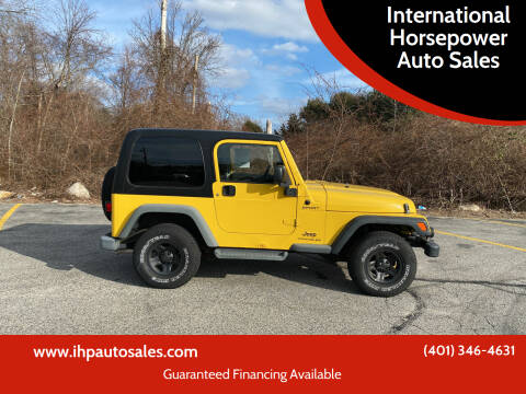 2006 Jeep Wrangler for sale at International Horsepower Auto Sales in Warwick RI