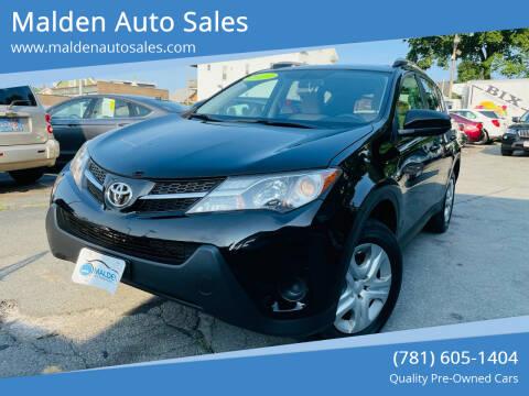 2013 Toyota RAV4 for sale at Malden Auto Sales in Malden MA