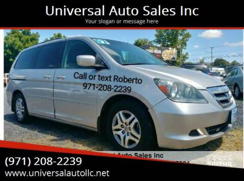 2007 Honda Odyssey for sale at Universal Auto Sales Inc in Salem OR
