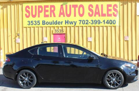 2015 Dodge Dart for sale at Super Auto Sales in Las Vegas NV