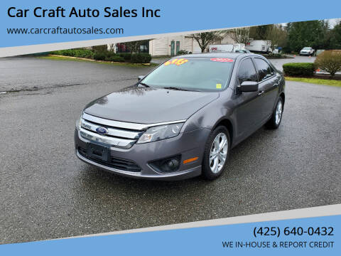 2012 Ford Fusion for sale at Car Craft Auto Sales Inc in Lynnwood WA
