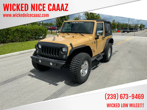 2014 Jeep Wrangler for sale at WICKED NICE CAAAZ in Cape Coral FL