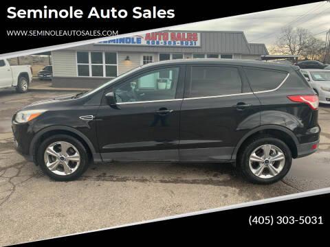 2013 Ford Escape for sale at Seminole Auto Sales in Seminole OK