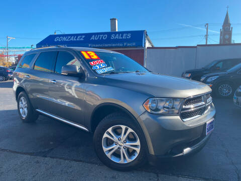 2013 Dodge Durango for sale at Gonzalez Auto Sales in Joliet IL