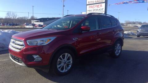 2018 Ford Escape for sale at Premier Auto Sales Inc. in Big Rapids MI