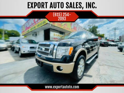 2011 Ford F-150 for sale at EXPORT AUTO SALES, INC. in Nashville TN