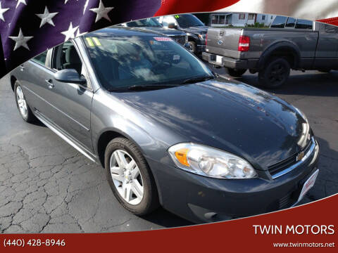 2011 Chevrolet Impala for sale at TWIN MOTORS in Madison OH