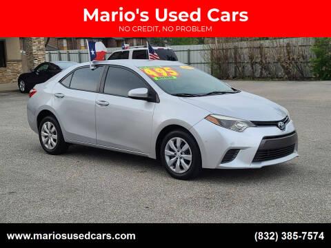 2015 Toyota Corolla for sale at Mario's Used Cars - Pasadena Location in Pasadena TX