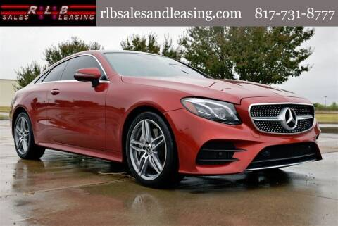 2018 Mercedes-Benz E-Class for sale at RLB Sales and Leasing in Fort Worth TX