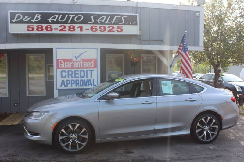 2015 Chrysler 200 for sale at D & B Auto Sales LLC in Washington MI