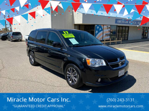 2017 Dodge Grand Caravan for sale at Miracle Motor Cars Inc. in Victorville CA