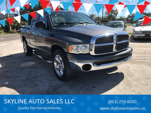 2004 Dodge Ram Pickup 1500 for sale at SKYLINE AUTO SALES LLC in Winter Haven FL