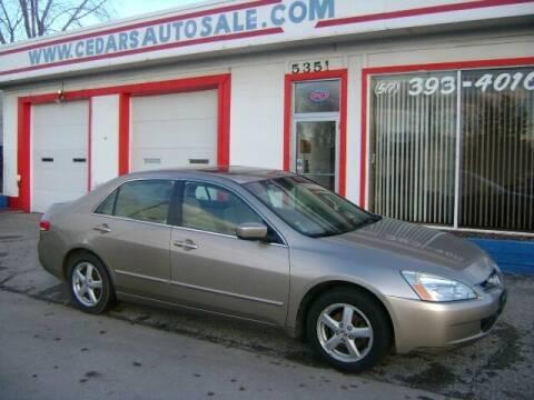2004 Honda Accord for sale at Cedar Auto Sales in Lansing MI