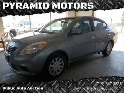 2014 Nissan Versa for sale at PYRAMID MOTORS - Pueblo Lot in Pueblo CO