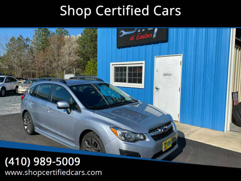 2012 Subaru Impreza for sale at Shop Certified Cars in Easton MD