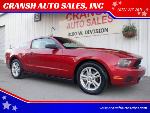 2010 Ford Mustang for sale at CRANSH AUTO SALES, INC in Arlington TX