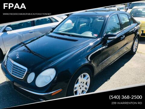 2004 Mercedes-Benz E-Class for sale at FPAA in Fredericksburg VA