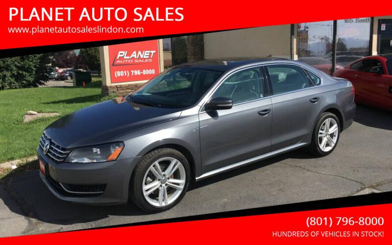2014 Volkswagen Passat for sale at PLANET AUTO SALES in Lindon UT