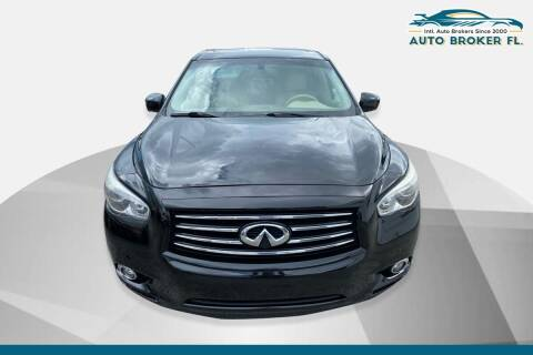 2013 Infiniti JX35 for sale at INTERNATIONAL AUTO BROKERS INC in Hollywood FL