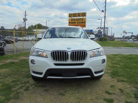 2012 BMW X3 for sale at Atlanta Fine Cars in Jonesboro GA