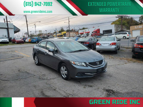 2013 Honda Civic for sale at Green Ride Inc in Nashville TN