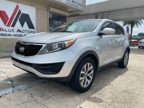 2014 Kia Sportage for sale at VALUE MOTORS in Kenner LA