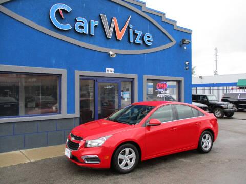2015 Chevrolet Cruze for sale at Carwize in Detroit MI