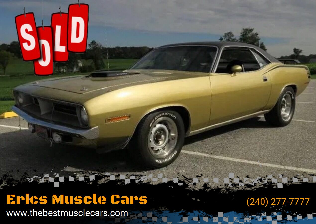 1970 Plymouth Cuda SOLD SOLD SOLD