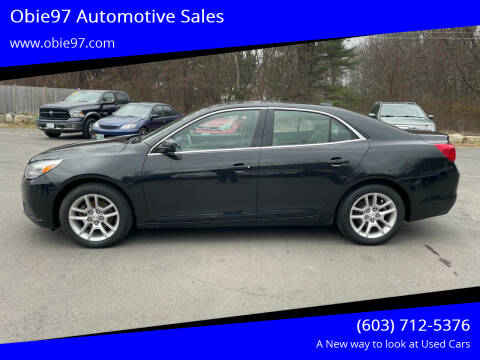 2013 Chevrolet Malibu for sale at Obie97 Automotive Sales in Londonderry NH