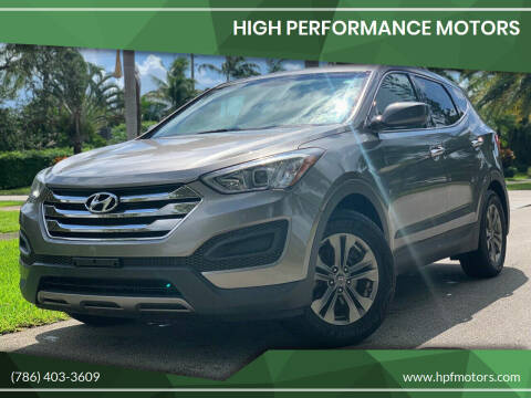 2014 Hyundai Santa Fe Sport for sale at HIGH PERFORMANCE MOTORS in Hollywood FL