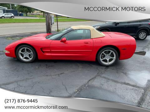 2001 Chevrolet Corvette for sale at McCormick Motors in Decatur IL