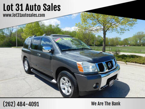 2004 Nissan Armada for sale at Lot 31 Auto Sales in Kenosha WI