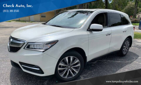 2015 Acura MDX for sale at CHECK  AUTO INC. in Tampa FL