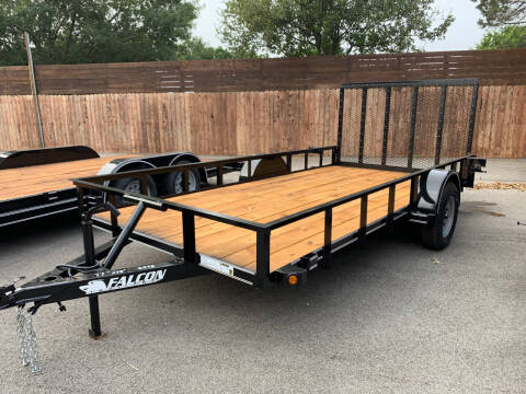 """2021 FALCON 14'X77"""" UTILITY for sale at Trophy Trailers in New Braunfels TX"""