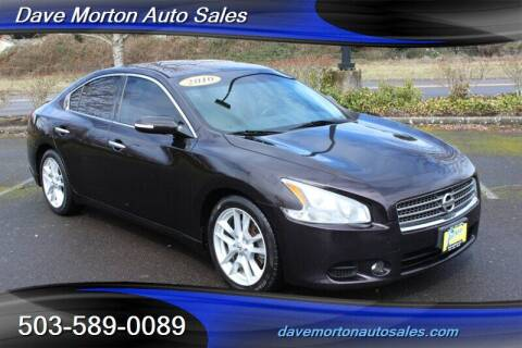 2010 Nissan Maxima for sale at Dave Morton Auto Sales in Salem OR