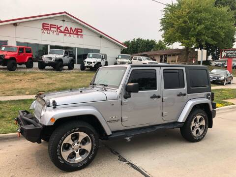 2017 Jeep Wrangler Unlimited for sale at Efkamp Auto Sales LLC in Des Moines IA