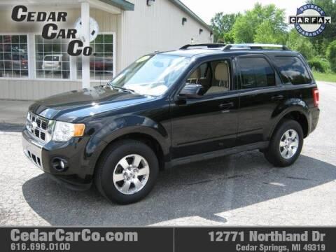 2012 Ford Escape for sale at Cedar Car Co in Cedar Springs MI