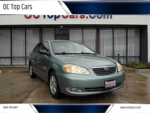 2006 Toyota Corolla for sale at OC Top Cars in Irvine CA