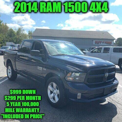 2014 RAM Ram Pickup 1500 for sale at D&D Auto Sales, LLC in Rowley MA