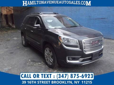 2014 GMC Acadia for sale at Hamilton Avenue Auto Sales in Brooklyn NY