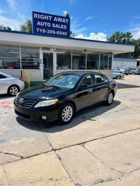 2010 Toyota Camry for sale at Right Away Auto Sales in Colorado Springs CO