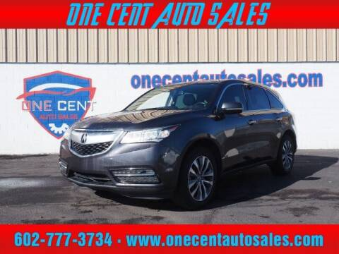 2015 Acura MDX for sale at One Cent Auto Sales in Glendale AZ