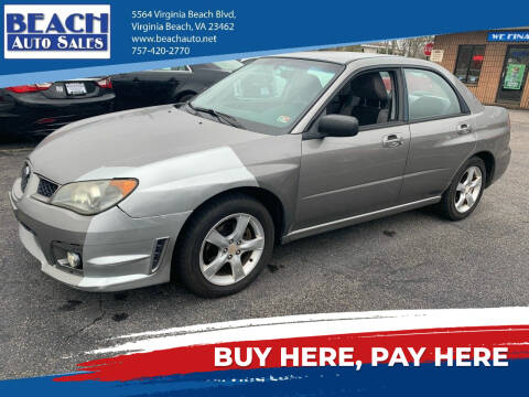 2006 Subaru Impreza for sale at Beach Auto Sales in Virginia Beach VA