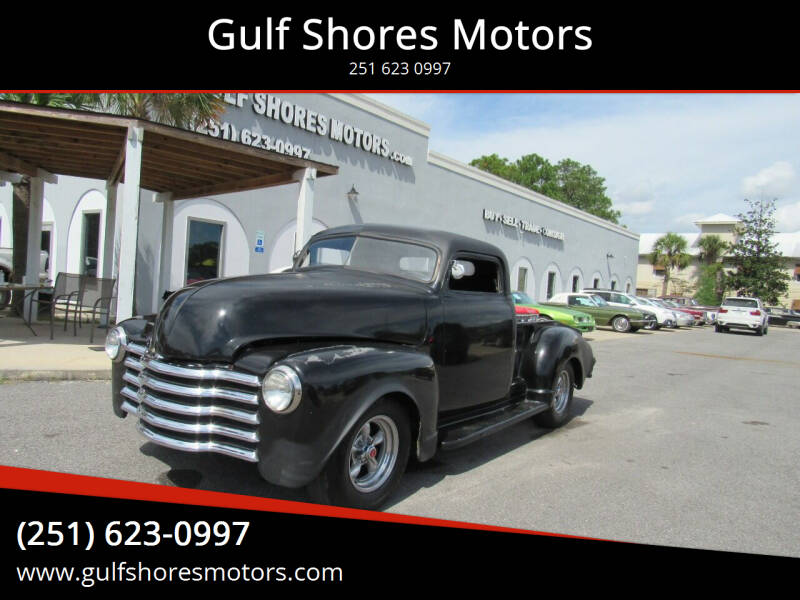 1953 Chevrolet Pick up for sale at Gulf Shores Motors in Gulf Shores AL